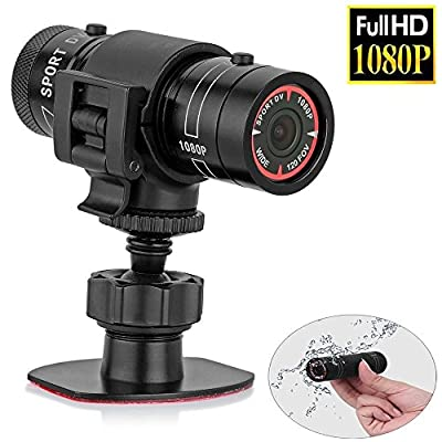Mengshen Full HD 1080P Mini Sports DV Camera Bike Motorcycle Helmet Action DVR Video Cam Perfect for Outdoor Sports MS-F9 by Mengshen