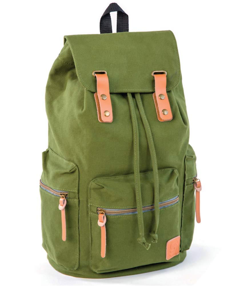 e01ce81cbe6d Sydney Paige Guidi 18-Inch Laptop Bag Rucksack Fits 15-inch Laptops (Army  Green)