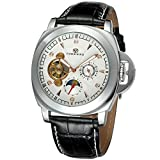 Forsining Men's Stylish Style Automatic Self-winding Moon Phase Wrist Watch with Brand Leather FSG005M3S6