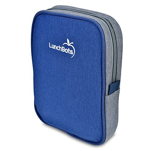 "LunchBots Bento Sleeve - Blue - Carrying Case for LunchBots Bento Uno, Duo, Trio, Cinco Bento 6"" x 8"" Containers"