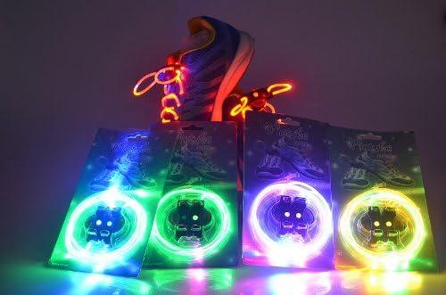 注目浴びる「LEDで光る靴ひも」選べるカラバリ 16色 点灯は 3パターン 夜間のウォーキング、犬の散歩、クラブやフェスに (ホワイト)