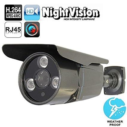 Cámara IP HD 720P impermeable máscara de privacidad Visón IR con 40 m
