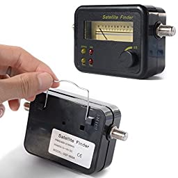 XCSOURCE Digital TV satellite Finder Signal Sat Meter Dish HDTV HD 13-18V DC 4 LED BI007