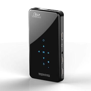Mini Proyector - Android 7.1 Vídeo Cine en casa Pocket proyector ...