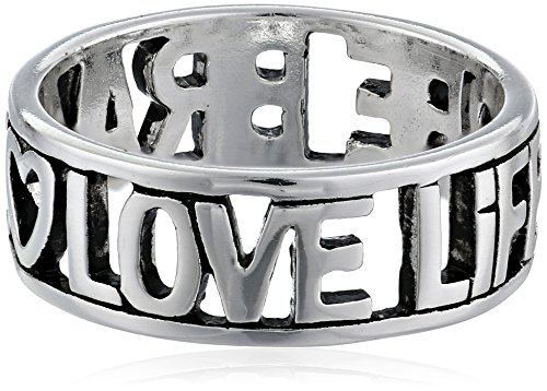 Sterling Silver Love Life Be Brave Cut Out Ring, Size (Love Cut Out Ring)