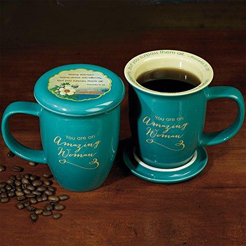 Abbey Gift Amazing Woman Mug and Coaster Set Abbey Press 56876T Non-Classifiable