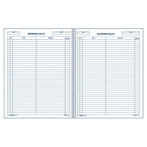 Rediform Rediform Incoming/Outgoing Call Register Book (RED50111) (Call Log)