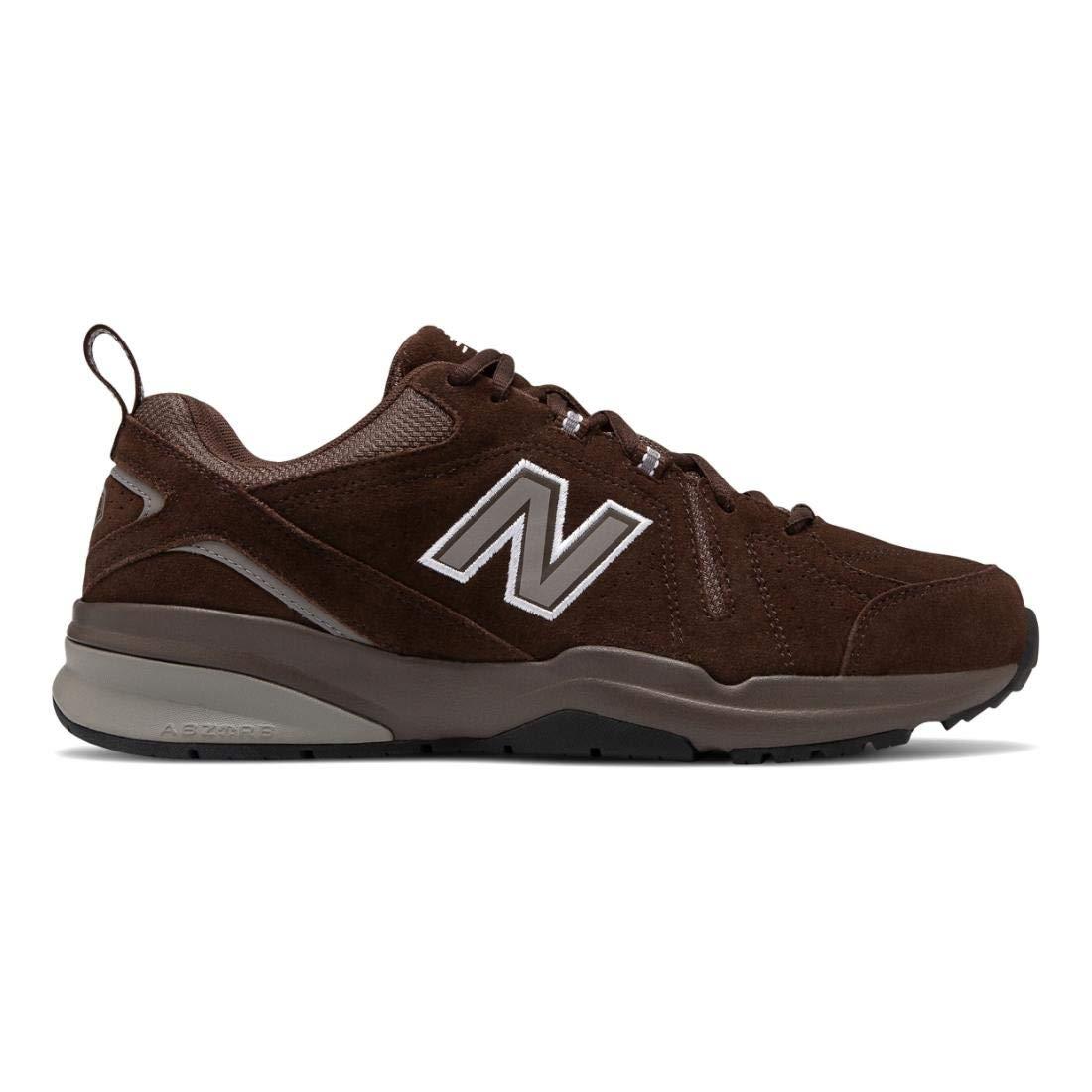 New Balance Men's 608v5 Casual Comfort Walking Shoe, Chocolate Brown/White, 11 2E US