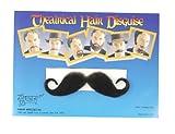 Forum Novelties Costume Handlebar Moustache, Black