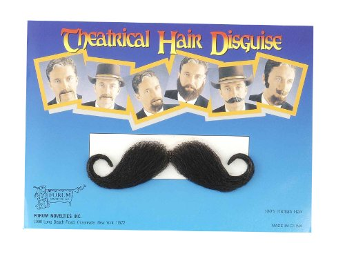 Costumes With A Moustache - Forum Novelties Costume Handlebar Moustache, Black