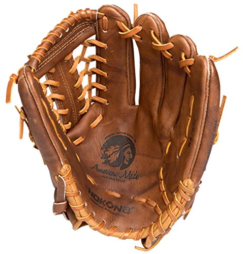 Infielders Glove Walnut Leather - Nokona Walnut Brown Leather Left-haned 11.5-inch Baseball Glove