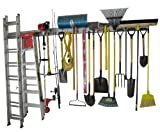 Holeyrail, Garage Storage System, Garage Organizer, Commercial Quality, Industrial Strength, Prefinished Steel Rail, 8 Feet Total Length, Can Standard Peg Hooks (not Included)