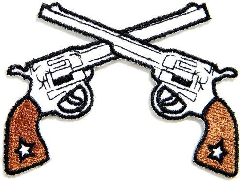 [Gun Pistol Shotgun Cowboy Shooting Game Army Military Logo Jacket Uniform Patch Sew Iron on Embroidered Sign Badge] (Target Cowboy Dog Costume)