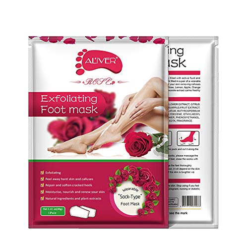 Clearance Sale!UMFun Remove Dead Skin Foot Mask Peeling Cuticles Heel Feet Care Anti Aging Foot Mask (A)