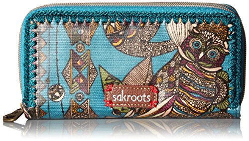 Artist Circle Double Zip Wallet Lagoon Spirit Desert, One Size