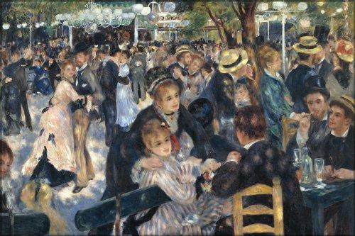 42x63 Poster; Dance At Le Moulin De La Galette, By Pierre-Auguste Renoir (1876) Paris