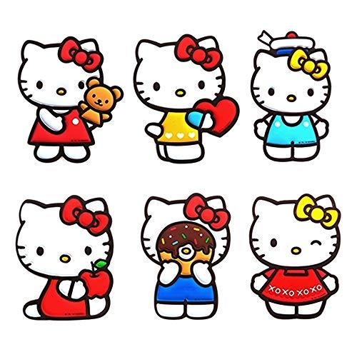 Sanrio Hello Kitty Emboss Line Big Laptop Phone Deco Sticker Set of 6