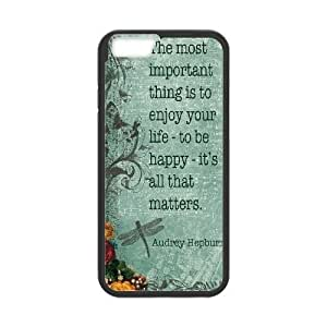 "Audrey Hepburn Quotes Personalized Cover Case for Iphone6 Plus 5.5"",customized phone case ygtg-781705"