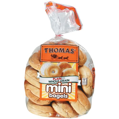 Thomas' Mini Plain Pre-sliced Bagels 15 Oz 2 Packs