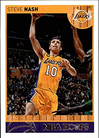 bcc32c73f05f 2013-14 NBA Hoops  2 Steve Nash Los Angeles Lakers Official Basketball Card  made