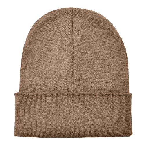 suave diseño de moderno de Marrón abrigo gorro invierno DonDon Arena y clásico gorro aOYqx1Rwv