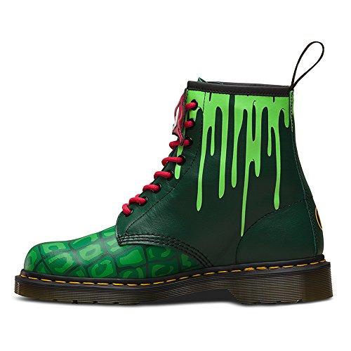 Eyelet Green Raph Leatther Dr Martens 8 Unisex TMNT Boot Green Multi wqxxXHv4