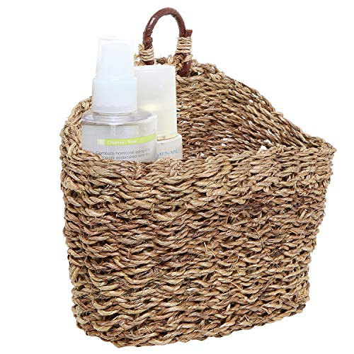 MyGift 6.5-Inch Handmade Weave Hanging Storage Basket/Multipurpose Small Indoor Display Bin ()