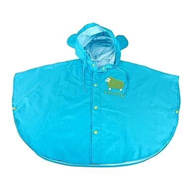 photos officielles 065bd c655e Poncho de Pluie Impermeable Enfant Petites Oreilles Windproof et Antipluie  pour Bébé Fille Garçon