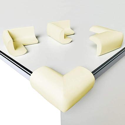 lot de 8 protection coin de table canwn mousse souple protection angle securite bebe angle droit anti chocs protege de coins avec resistant adhesifs
