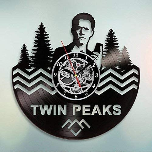 choma Twin Peaks Vinyl Wall Clock Art Gift Room Modern Home Record Vintage Decoration