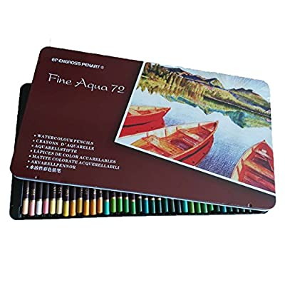 Artists Colored Watercolor Pencils - Water Soluble Colored Pencils For Art Students & Professionals, Drawing, Watercolor, Art, Inktense Ink Pencils