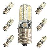Dimmable E17 LED Bulb,3000K Warm White,4W(40W Halogen Equivalent)E17 Base Light Bulb AC 120V 360 Degree Beam Angle(6 Pack)
