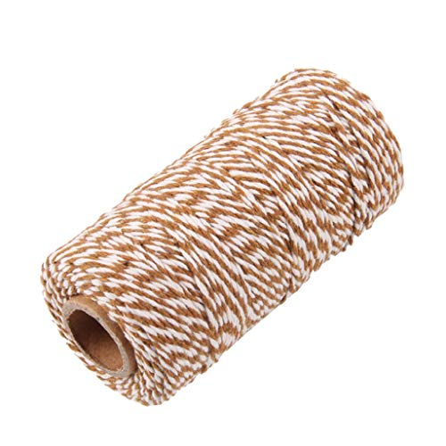 - BROSCO Bakers Twine 100m Wedding Party Crafts String Ribbon 100% Cotton 15 Colours | Color - Coffee