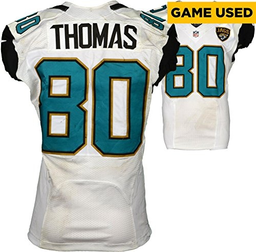 Julius Thomas Jacksonville Jaguars Game-Used #80 White Jersey vs Baltimore Ravens on September 25, 2016 - Fanatics Authentic Certified