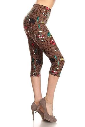 43a41625dc Leggings Depot Women's Plus Size High Waisted Capri Print Leggings at  Amazon Women's Clothing store: