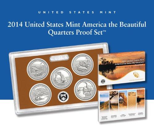 2014 S United States Mint America the Beautiful Quarters Proof Set™ OGP