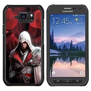 Assassin Pirata- Metal de aluminio y de plástico duro Caja del teléfono - Negro - Samsung Galaxy S6 active / SM-G890 (NOT S6)