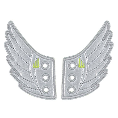 Shwings Windsor Foil Lace In Wings For Shoes (Silver) -