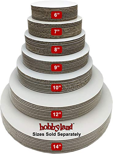 (Hobbyland Cake Boards Circle White Coated Greaseproof (7