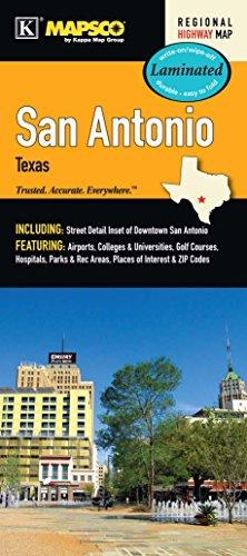 San Antonio, TX Waterproof Map