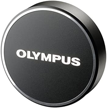 Black Olympus LC-48B Metal Lens Cap for M.Zuiko Digital 17mm 1:1.8 Lens