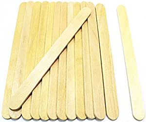 """Popsicle Sticks, 200pc, 4-1/2"""" Length, FDA Approved Food Grade Wooden Ice Cream Sticks, Great Sticks for Crafts, By Fedmax."""