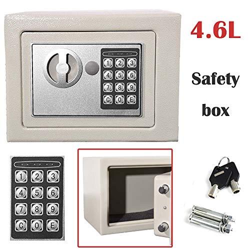 (23x17x17) cm Electronic Password Security Safe Money Cash Deposit Box Office Home Safety Mini 4.6L White Safe boxes