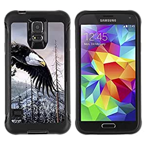 iKiki Tech / Estuche rígido - Bald Eagle American Alaska Wilderness - Samsung Galaxy S5 SM-G900