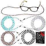 Eye Glasses String Holder - Premium Beaded Eyeglass Holders Around Neck - Eyeglass Chain Cord for Women