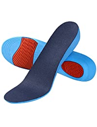 1 Pair of Comfortable Unisex Invisible Anti-slip PU Breathable Mesh Height Increase Heel Lift Taller Shoes Insoles Blue