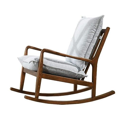 HYYTY-Y Silla Mecedora de sofá Individual, sillón de Madera ...