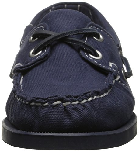 Sebago Womens Spinnaker Oxford Navy Canvas / Pelle Color Cuoio