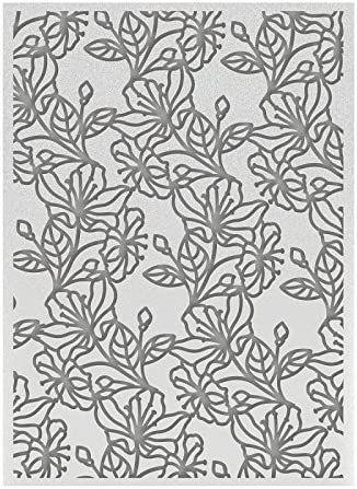 Synthetic Material 20.8 x 13.8 x 0.3 cm Ultimate Crafts Watercolour Blooms 5 x 7 Embossing Folder