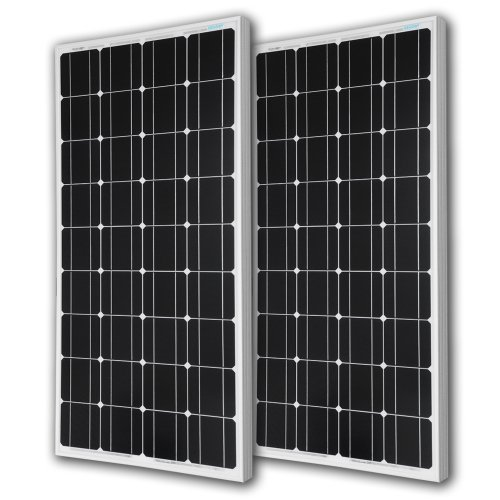 (Renogy 2 Pieces 100W Monocrystalline Photovoltaic PV Solar Panel Module, 12V Battery Charging)